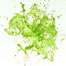 Splashing Green Liquid
