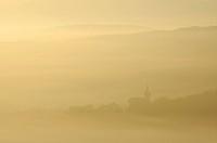 Eisenach, Germany, Thuringia, Thuringia forest, morning fog
