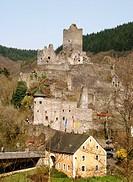 Oberburg und Unterburg, Manderscheid, Eifel, Rhineland, Rhineland-Plaltinate, Germany