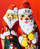 Chocolate Santa Claus and Santa Claus girl