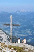 Summit cross, Stoderzinken, Styria, Austria