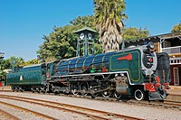 Historical steam engine, Rovos Rail the most luxurious train in the world, South Africa