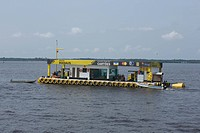 Position of Flotation Fuel, Negro River, Amazônia, Manaus, Amazonas, Brazil