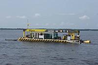 Position of Flotation Fuel, Negro River, Amazônia, Manaus, Amazonas, Brazil