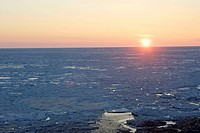 Ice floe, Grindstone island, Magdalen Islands, Quebec, Canada