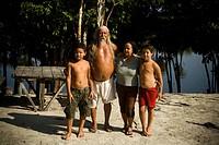 Family, People, Santa Maria Ranch, Cuieiras River, Manaus, Amazônia, Amazonas, Brazil
