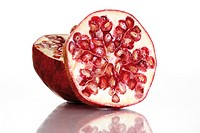 Pomegranate Punica granatum, halved