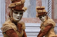 Masks, costumes during Carnival in Venice, Italy, Europe