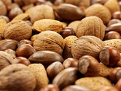 Assorted nuts close_up
