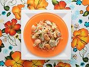 Pork and apricot salad