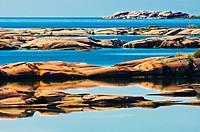 Pre_cambrian shield at Desjardins Bay, south of Philip Edward Island, Ontario, Canada
