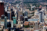 Aerial view of downtown Toronto, Ontario, Canada