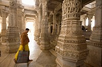 Jainist temple of Ranakpur. Rajasthan. India