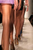 women legs in the greek fashion week in Athens Greece