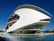 Palace of Arts, City of Arts and Sciences by S. Calatrava, Valencia. Comunidad Valenciana, Spain