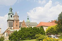 St  Wac&322,aw or St  Wenzel and St  Stanisus Cathedral, Krakow, Poland, Europe