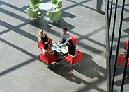 Four business colleagues holding a business meeting (thumbnail)