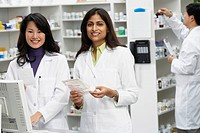 Portrait of female pharmacists in pharmacy
