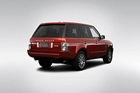 2009 Land Rover Range Rover Autobiography in Red _ Rear angle view