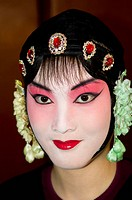 Chinese Kunqu opera performers get ready for the show