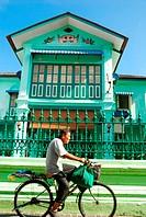Elderly Man Riding A Bicycle, Malaysia
