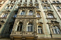 Prague Czech Republic, building along Vezenska street