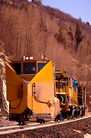 Cargo train in mountain area