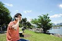 Young man calling by the mobile (thumbnail)