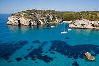 Macarelleta cove, Minorca. Balearic Islands, Spain