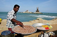 Man selling Chaat at the southern most point of India  Kanyakumari Cape Comorin