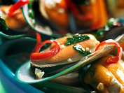 Green lipped Mussel with Thai dressing