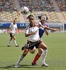 2008 FIFA U-20 Women´s World Cup, Germany vs. France (December 07, 2008; Estadio Municipal de la Florida, Santiago, Chile): German forward  Nicole Ban...