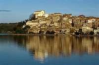 Anguillara Lazio Italy Anguillara Sabazia on the edge of Lake Bracciano