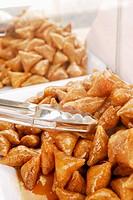 Honey and almond Samossas