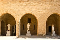 Courtyard of the Grand Master´s Palace, Rhodes. Dodecanese islands, Greece