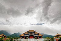 Temple near the Three Pagodas, Dali, Yunnan province, China