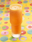 carrot,lime, pineapple,apple and ginger milk shake