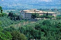 giano dell´umbria, abbazia di san felice, umbria, italia
