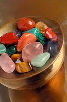 Healing stones in a bowl