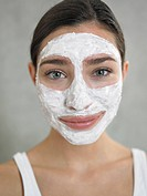 Woman with curd mask (thumbnail)