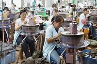 Mongolia. Ulaan Bator. Gobi cashmere factory.