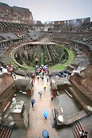 Lluvia en el Coliseo, Roma, Italia