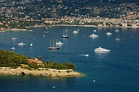 St Jean Cap Ferrat, View from Helicopter, Cote d'Azur, France
