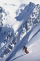 Skier on shuksan arm