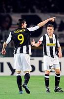 vincenzo iaquinta, alessandro del piero, torino 2009, champions league