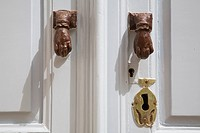 europe, greece, dodecanese, patmos island, chora, door_knocker