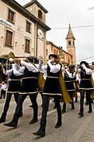 historical recalling, san nicolas day, castelfranco emilia, emilia romagna, italia