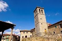 Church, Miranda del Castañar. Las Batuecas, Sierra de Francia Natural Park, Salamanca province, Castilla-Leon, Spain