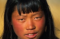 Young woman, Do Tarap valley, Dolpo region, Nepal