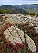 The summit of Cadillac Mountain, in Acadia National Park, Maine.